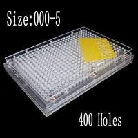 400 Holes Size 00 0 1 4 5 Capsules Fillings Machine Capsules Filler Plexiglass