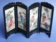 Miniature Dollhouse Chinese Screen With Ladies 1:12 Scale New