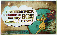 #8761 -- HIGHLAND GRAPHICS WESTERN COWGIRL I WHISPER DECORATIVE WOOD SIGN -WOW!