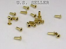 "Brass Eyelet Rivets 1/16"" Wide x 5/32"" Long Package Of 100"