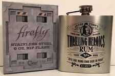 Firefly Stainless Steel Hip Flask 6oz Jayne Cobb Serenity * NEW *