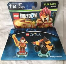 Lego Dimensions Chima Laval & Mighty Lion Rider Minifigures Set Wiiu Game