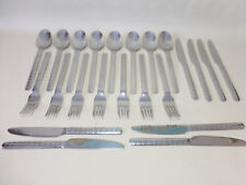 23 Piece Edelstahl Rostfrei 18/10 Dotted Stainless Flatware - Fork Spoon Knives