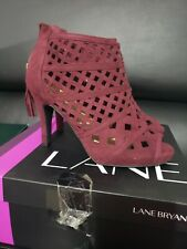 Lane Bryant SIZE 10 SEXY VELVET WINEBERRY PARTY/COCKTAIL Sandals BRAND NEW