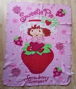 Strawberry Shortcake Girls Lightweight Fleece Throw Blanket 44x56 Double-Sided