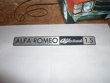 Sigle insigne logo aluminium ALFA ROMEO ALFASUD 1.5 emblème de coffre