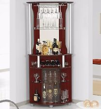 Bar Cabinet Corner Home Bottle Storage Wine Rack Liquor Pub Furniture Stemware
