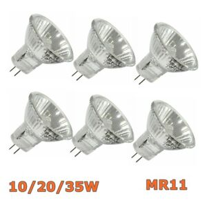 10Pcs 10/20/35W 12V Replace Halogen Bulbs Spotlight Lamps Downlight Spot MR11