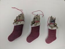 3 Dog In Stocking Dog Breed Resin Christmas Tree Ornament