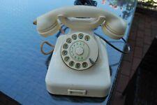 Altes Bakelit Telefon, W48 Elfenbein/weiß - Original Post - Wählscheibe