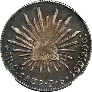 Mexico 8 Reales Ga 1832 F.S. Guadalajara Mint, NGC AU55. KM# 377.6