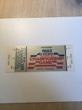1983 Usfl Inaugural Championship Game Ticket - Mint First Year Pro Football