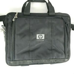 HP Invent Black Laptop Computer Bag Briefcase Multiple Compartments & Strap