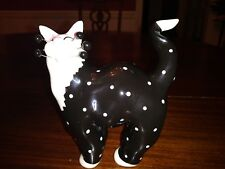 Amy Lacombe Polka Dot Cat Black & White 2001 #85060 Willitts Designs