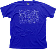 Maths Science Physics Equation Geek Funny blue cotton t-shirt 01544