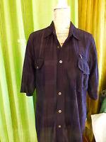TXXL bleue marine ,chemise homme légére ,2poches  manches courtes