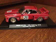 Fly 88161 Red Bmw 3.5 Csl 12h Sebring '78 Miller/Bohren Slot Car