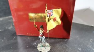 Britains BOXED Napoleonic No 36112 British 44th Foot Ensign w Regt Colours Flag