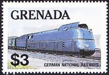 Grenada - 1982 -  $3.00 German National Railways Locomotive/Train #1125 Mint NH