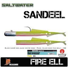 Seelachs Killer Sandaal DELALANDE FIRE EEL + VMC 7161TI 8/0 100g   Farbcode:188