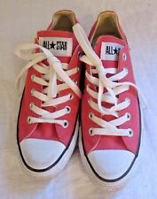 Converse All Star Chuck Tar Dark Pink/ Coral Canvas Shoes Sneakers Unisex M5 W7