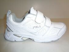 Fila Size 7 MEMORY CAPTURE 2 STRAP White Leather Hiking Sneakers New Mens Shoes