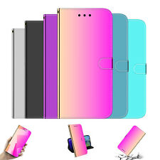Mirror-Surface Glossy PU Leather Wallet phone case strap For Xiaomi Huawei Nokia