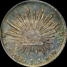 "AN UBER-MIRRORED PCGS MS63 1895 GAJS 8 REALE MEXICO ""TOP POP"" TONED CAP & RAY"