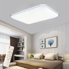 72W LED Deckenleuchte Deckenlampe Dimmbar Rechteck Schlafzimmer Badlampe Silber