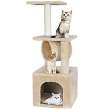 "36"" 3 Steps Pet Stairs Ladder Ramp Scratching Post Cat Tree Climber for Cat Dog"