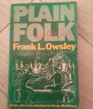 Plain Folk of the Old South by Frank Owsley