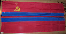 Vintage 1989 Huge flag of the USSR, Union Republic of USSR, Republic TURKMEN
