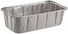 SafePro 2-Lbs Aluminum Foil Baking Disposable Loaf Pan, 50-Piece Pack