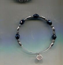 Black bracelet retired Alex & Ani Silver