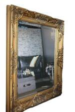 Spiegel Wandspiegel barock gold antik HOLZ Landhaus Cottage Patina Badspiegel