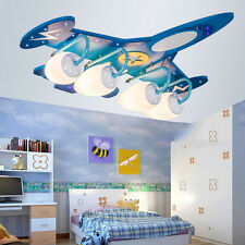 Children LED Aircraft Missile Airplane Chandelier Den Ceiling Light Bedroom Lamp
