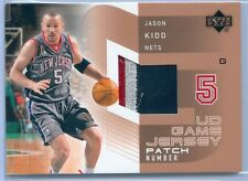 JASON KIDD 2002-03 UPPER DECK GAME USED JERSEY PATCH NUMBERS SP