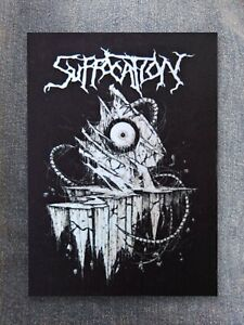 Suffocation patch printed textile patch sew on rock brutal death metal core