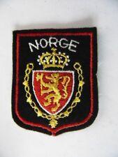 ECUSSON VINTAGE NORGE / NORVEGE / VOIR AUTRES ECUSSONS + DRAPEAUX EN VENTE