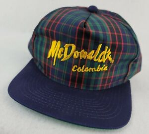 Vintage McDONALDS Colombia snapback hat cap Embroidered 90s brand new