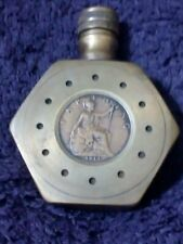 Unique, 1914 Brass Sweetheart Perfume/Scent Bottle with George V farthing