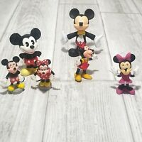 Mickey Mouse and Minnie Mouse Walt Disney Vintage Collection LOT Of 6 Disneyana