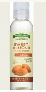 Nature's Truth 100% Pure Unscented Skin Care Base Oil, Sweet Almond 4 oz (2pk)