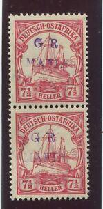 "TANGANYIKA - SG. M.3 ( c ) :  1915 ( Jan ) ""  REDDISH - VIOLET  HANDSTAMP  "" ."