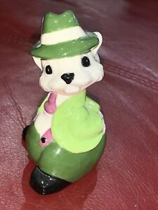Vintage Rabbit Bunny Mouse Leprechaun St. Patrick's Day Figurine 3 1/2""