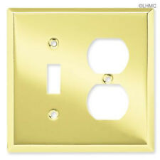 BRAINERD Polished Brass Single Duplex Light Switch Plate Outlet Cover Wallplate