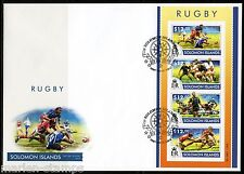SOLOMON ISLANDS  2015 RUGBY SHEET  FIRST DAY COVER
