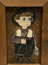 Dolores Hackenberger Little Amish Boy Framed & Signed Oil Painting on Canvas