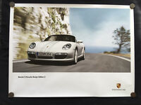 PORSCHE DESIGN EDITION 2 BOXSTER S LIMITED EDITION (PDE 2) SHOWROOM POSTER 2009.