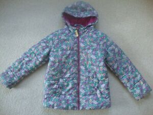 Joules girl's coat age 9-10 - floral hooded